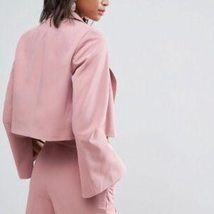 ASOS Jackets & Coats - Pick 2 FOR $30👑 [ A S O S ] Blush Crop Blazer